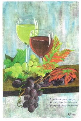 Dessin robert michel verres de vin redim