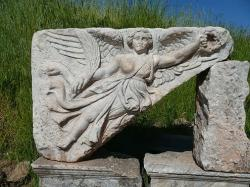 Goddess nike at ephesus turkey