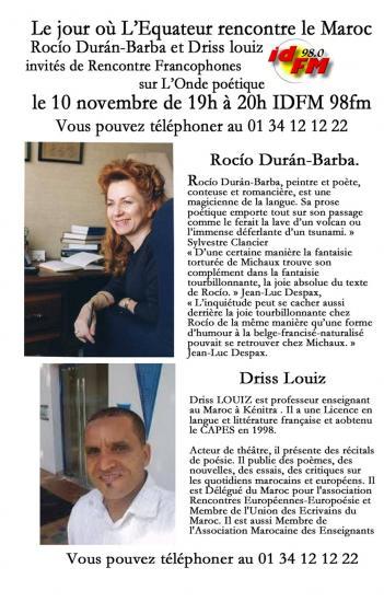 Rencontres francophones 10 11 2016