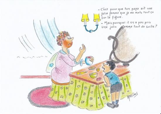 Robert michel caricature jolie femme redim